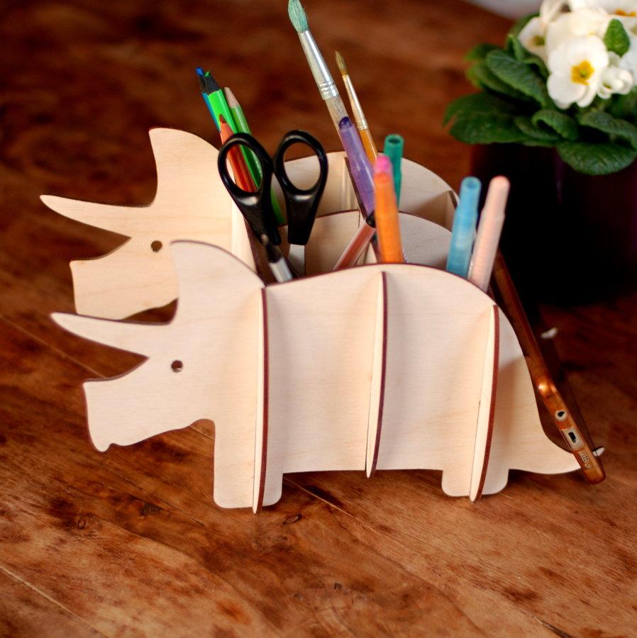 Zīmuļu turētājs / galda organizators - Dinozaurs.