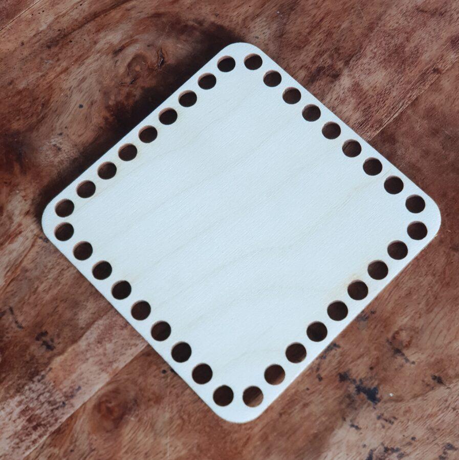 Finiera pamatne groziņu veidošanai - kvadrāts