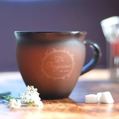 Personalized clay mug, large