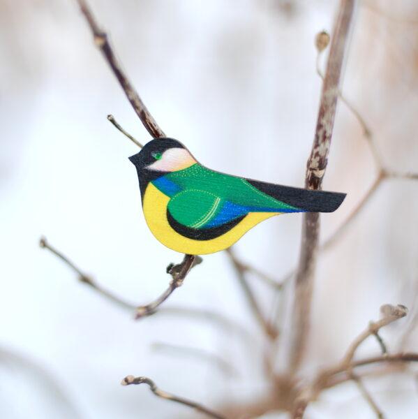 Putniņu piespraude
